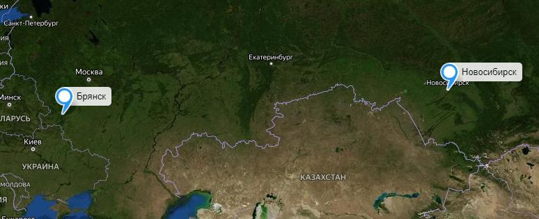 Грузоперевозки Новосибирск-Брянск