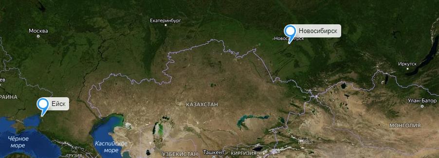 Грузоперевозки Новосибирск-Ейск