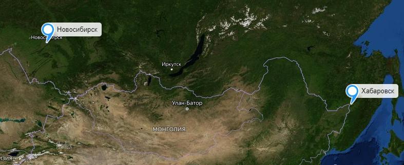 Грузоперевозки Новосибирск-Хабаровск
