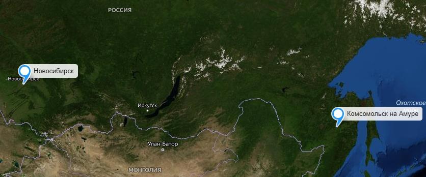 Грузоперевозки Новосибирск-Комсомольск на Амуре