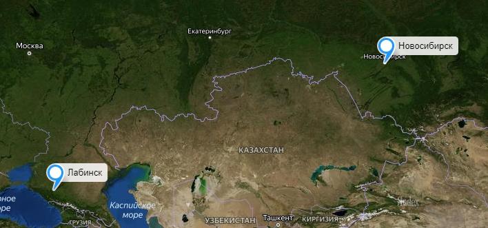 Грузоперевозки Новосибирск-Лабинск
