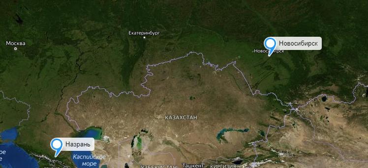 Грузоперевозки Новосибирск-Назрань