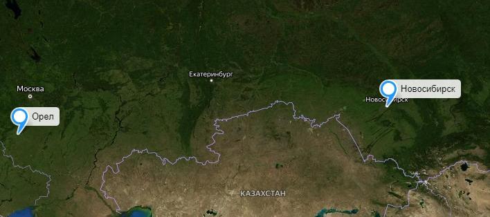 Грузоперевозки Новосибирск-Орел