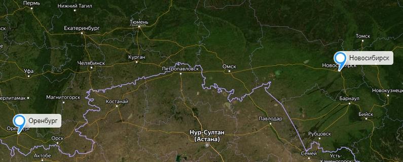 Грузоперевозки Новосибирск-Оренбург