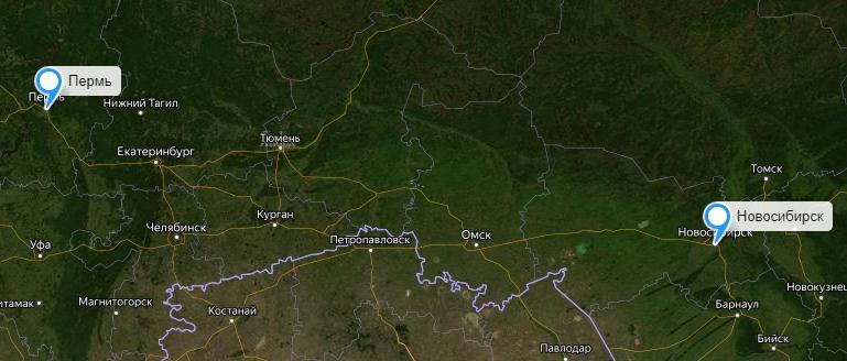 Грузоперевозки Новосибирск-Пермь