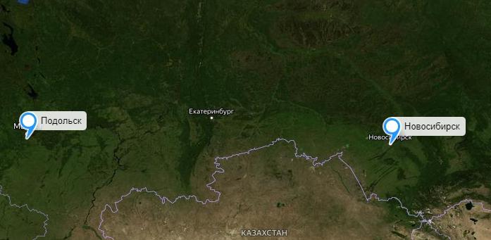 Грузоперевозки Новосибирск-Подольск
