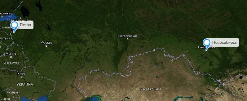 Грузоперевозки Новосибирск-Псков