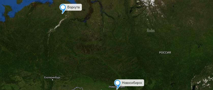 Грузоперевозки Новосибирск-Воркута