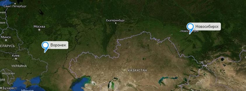 Грузоперевозки Новосибирск-Воронеж