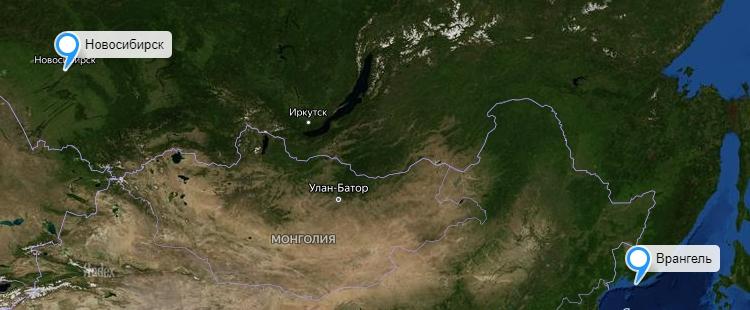 Грузоперевозки Новосибирск-Врангеля